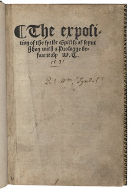 The exposition of the fyrste epistle of seynt Jhon
